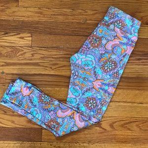 LuLaRoe Pants - LuLaRoe OS leggings paisley floral HTF NWOT