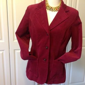 Chadwicks Jackets & Blazers - Chadwicks Wine Colored 3-Button Blazer