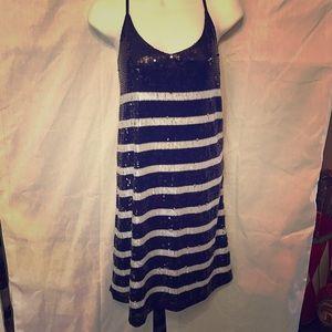 alya Dresses & Skirts - NWOT Striped sequin dress