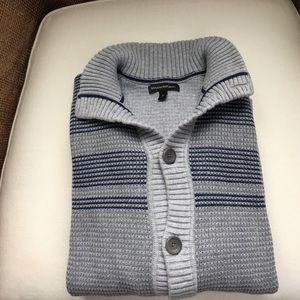 Men's button front cardigan