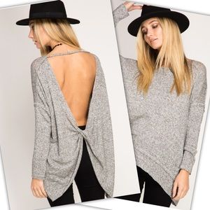She and Sky Tops - FIRM 🌻SALE🌻PULL OVER TOP WITH OPEN BACK
