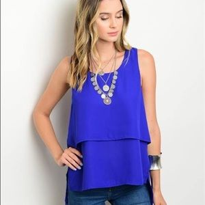 Royal Blue Tiered Top