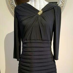 London Times Dresses & Skirts - London Times Black & Gold Embellished Dress