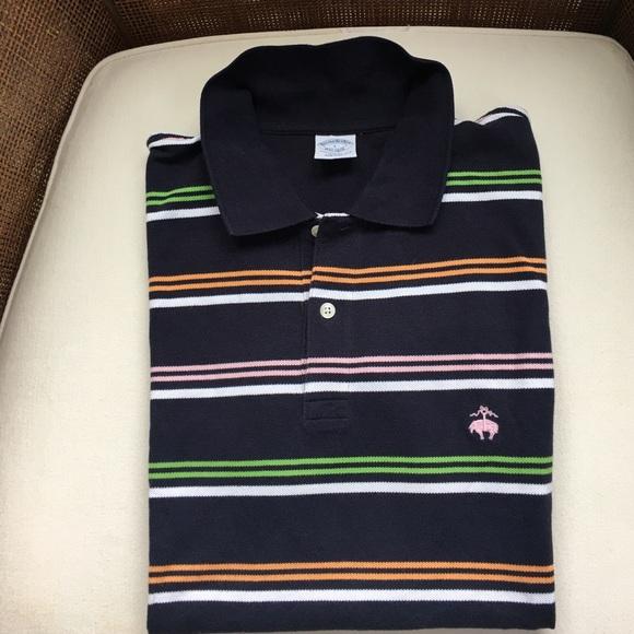 c13f7d11 Brooks Brothers Shirts | Mens Preppy Multi Stripe Polo Shirt | Poshmark