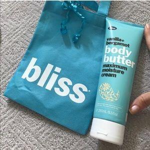 Bliss Other - BRAND NEW BLISS Vanilla and Bergamot Body Butter