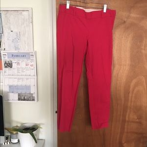 J. Crew Pants - Hit Pink J. Crew Cropped Trousers