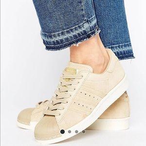 Adidas Shoes - Adidas Originals Khaki Superstar Shelltops