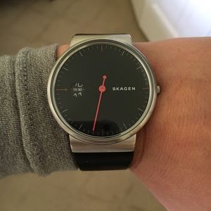 Skagen Other - Skagen black leather watch