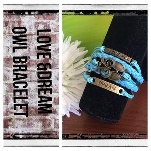 Love & Dream turquoise layered cuff