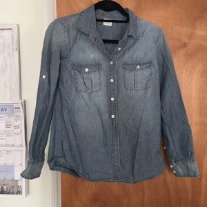 J. Crew Tops - J. Crew Factory Chambray Shirt