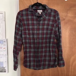 J. Crew Tops - Plaid flannel J. Crew shirt