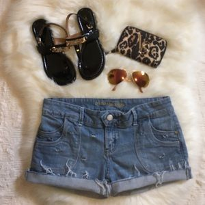 American Eagle Outfitters Pants - American Eagle Sz 8 Regular Destroyed Jean Shorts