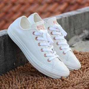 f3e53c04655149 Converse Shoes - Converse Leather Powder Blue Rose Gold Exclusive