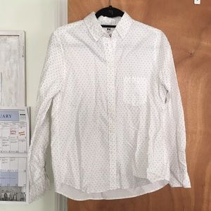 Uniqlo Tops - White shirt with black polka dots