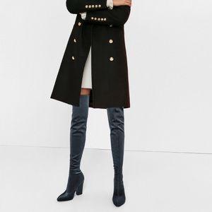 Zara Shoes - Zara blue stretch velvet OTK boots