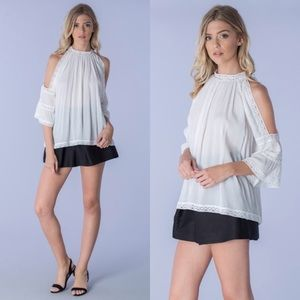 Tops - Soft White High Neck Top