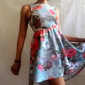 Auditions Dresses & Skirts - 🆕FLORAL PRINT CRINOLINE PUFF HIGH/LOW DRESS