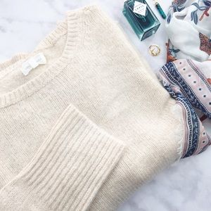 Lou & Grey Sweaters - Cream Soft Knit Sweater