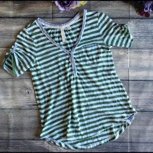Anthropologie Tops - Anthro Feather Bone Doubleplay Henley size medium