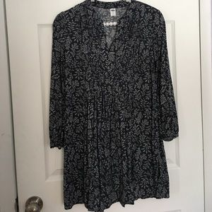 Old Navy Dresses & Skirts - Old Navy Grey Floral Swing Dress