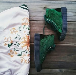 LAST PAIR!!//The Zoe//  Emerald green creepers