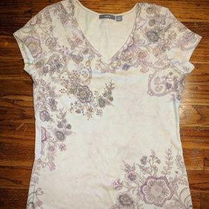 Apt. 9 Tops - Apt 9 V Neck T Shirt With Studded Embellishment