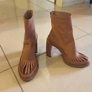 Ann Demeulemeester Shoes - ANN DEMEULEMEESTER slit toe boots SZ 39.5