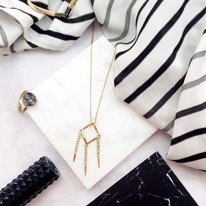 Alexis Bittar Jewelry - Alexis Bittar Geometric Fringe Pendant Necklace