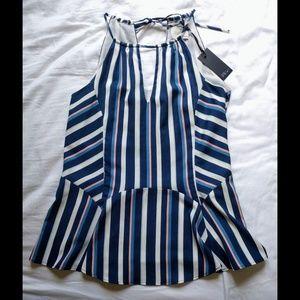 Greylin Tops - Greylin striped peplum top
