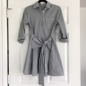 Shein Dresses & Skirts - Shein Denim Blue & White Striped Dress