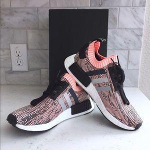 low priced 82b0b fc734 Adidas Shoes - Adidas NMD R1 Primeknit BB2361 Sun Glow Salmon 7