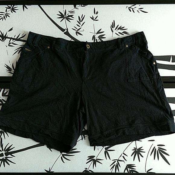 013cfdd0f4dad Avenue Pants - Avenue Plus Size black stretchy shorts 26 28