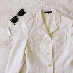 Theory Jackets & Coats - THEORY beige military style blazer