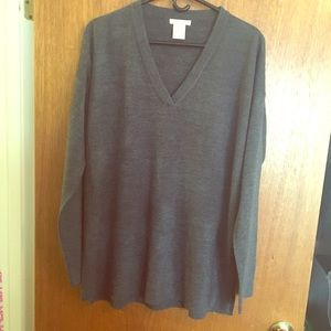 Sweet Romeo Sweaters - Charcoal Partially Ribbed Sweater