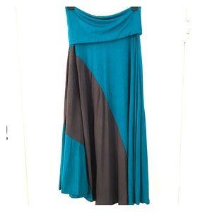 gabriella rocha Dresses & Skirts - Gabriella Rocha, fold over teal maxi skirt.