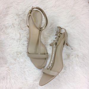 Calvin Klein Shoes - CALVIN KLEIN Lola nude t-strap kitty heels