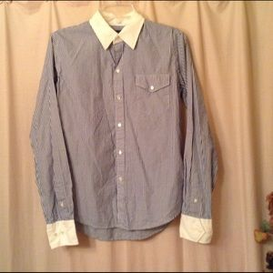 Ralph Lauren Tops - Ralph Lauren pinstripe button up shirt