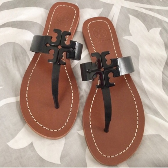 94b502b1b940bf Tory Burch Shoes - Tory Burch Moore Thong Sandals - Black Brown