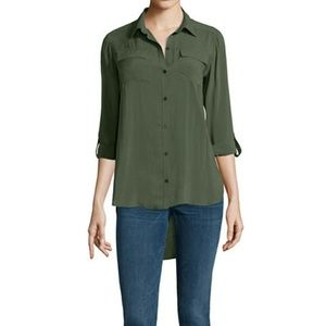 DREW Tops - Drew loose button down silk tunic
