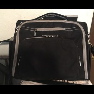 Black and grey BFF diaper bag by Jujube