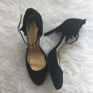J. Crew Black Ankle Strap Heel