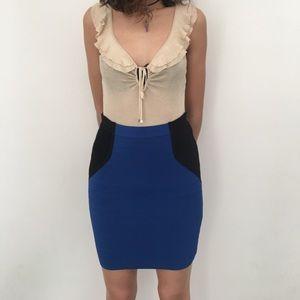 Cut25 by Yigal Azrouel Dresses & Skirts - CUT25 black and blue zipper skirt / never worn