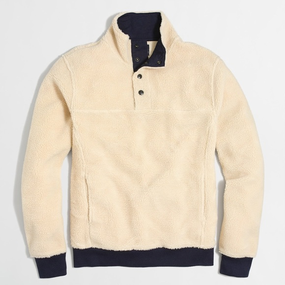 34% off Jcrew Other - JCrew Upstate Fleece Pullover - Cream/Navy ...