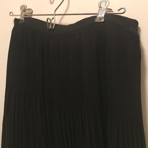 zara zara size xs black pleated skirt from irina s