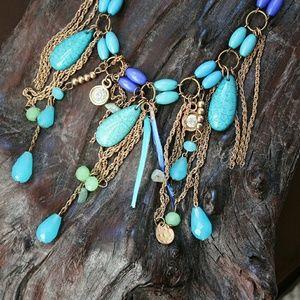 🌟Anthro🌟Gorgeous mixed media necklace