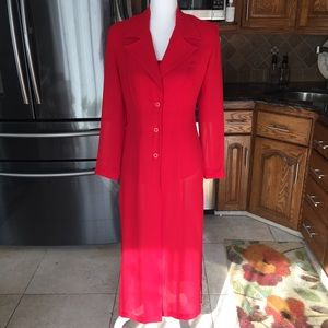 Two piece red jacket & matching shirt