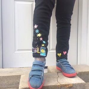 Denim - Black painted cool jeans