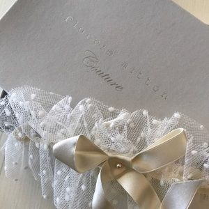 Florrie Mitton Accessories - Innocence spot tulle garter