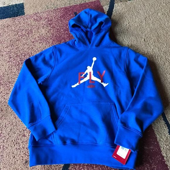 819c64ebc2ec22 Boys Nike Air Jordan hoodie pullover youth large