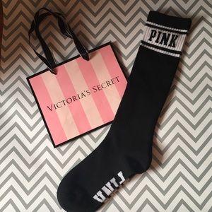 PINK Victoria's Secret Accessories - Victoria's Secret pink high knee socks